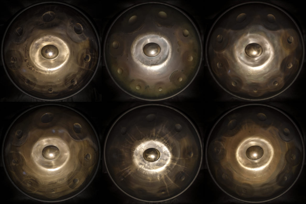 six handpan with special design by Shellopan